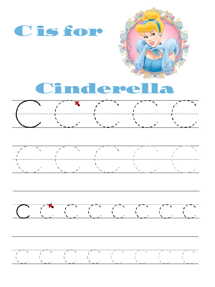Disney Alphabet Learning Pages