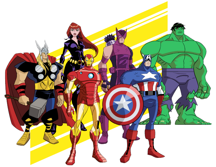 Avengers Heroes Clipart