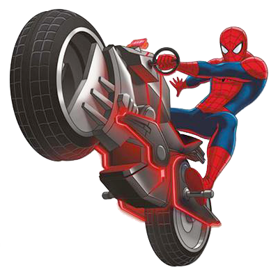 Spider-man on Cycle