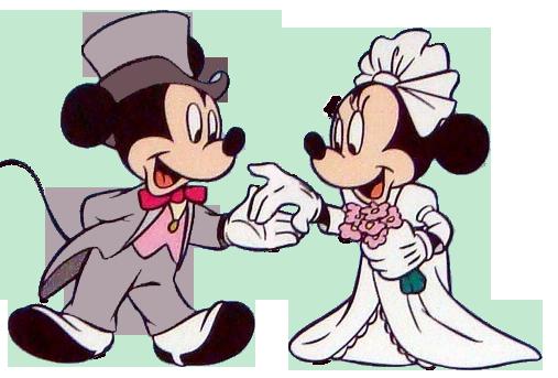 Mickey and Minnie Wedding Clip Art – Cliparts