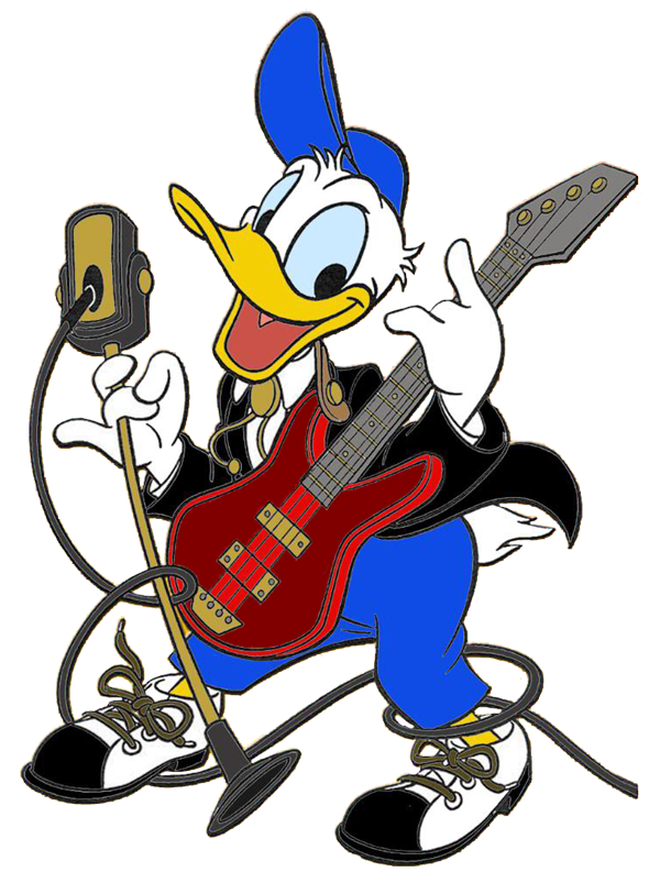 Rock Music Clip Art Donald duck music clipart